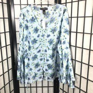 • Venzenia Plus Size Women Chiffon Flower Blouse